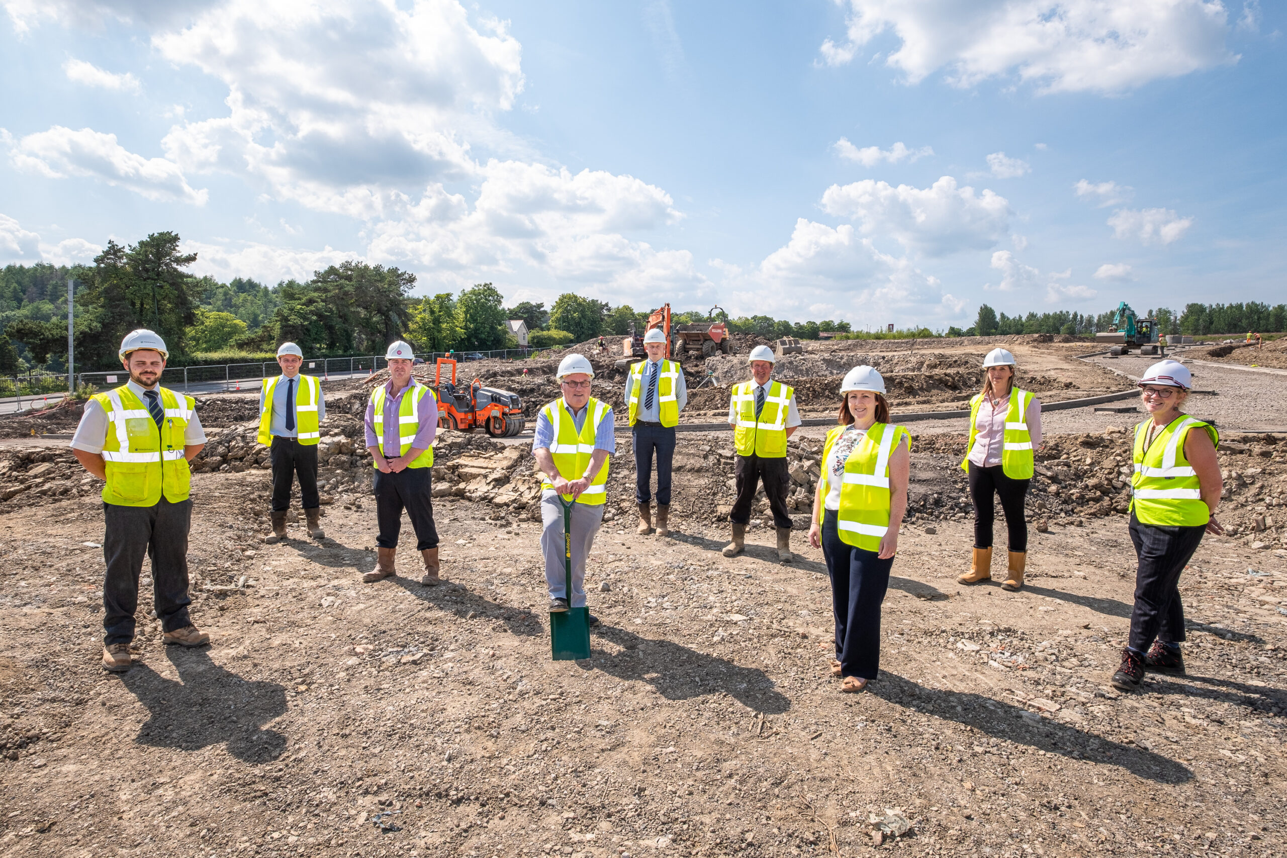Carn Y Cefn development colleagues on site