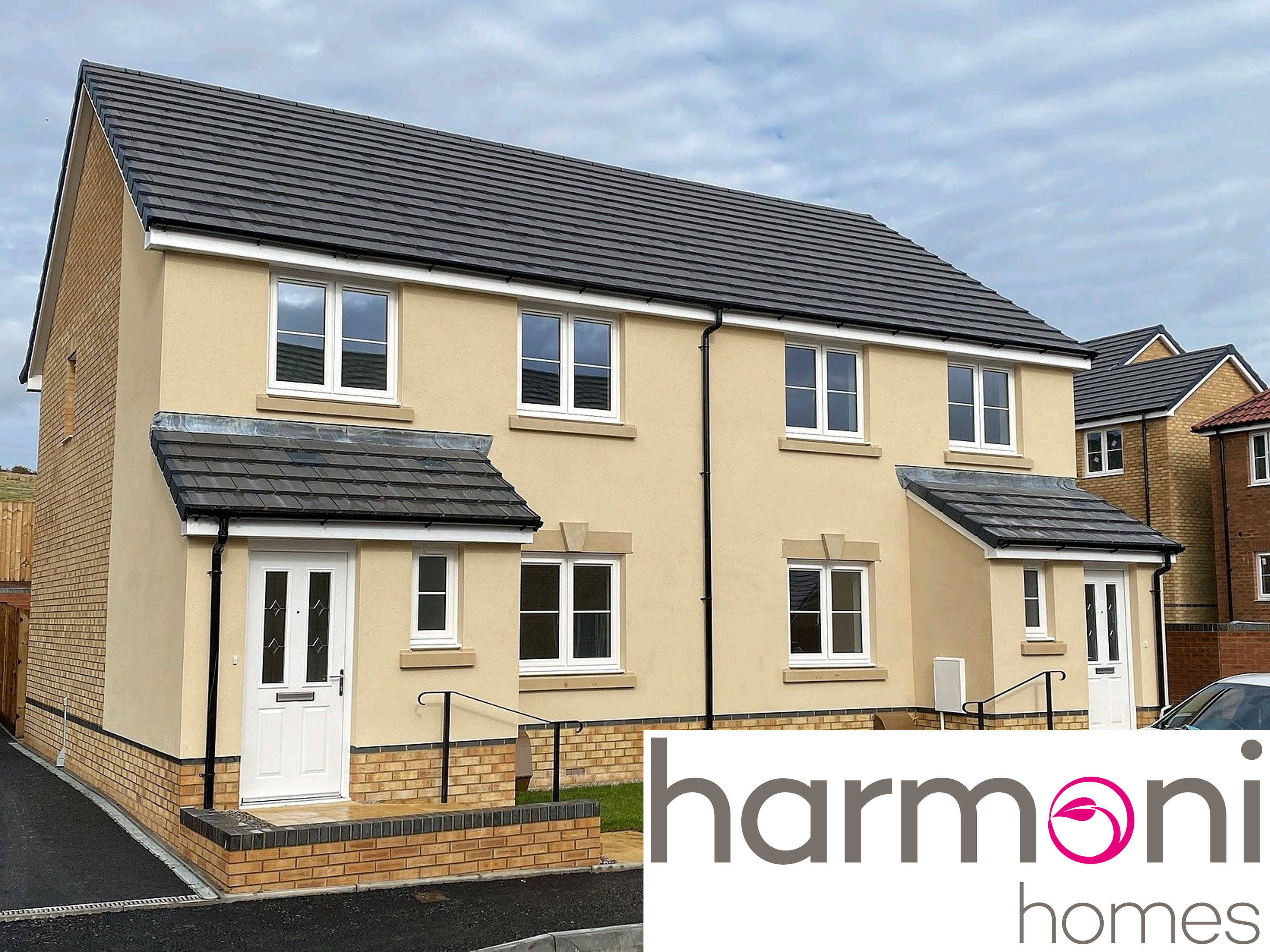 Homes in Bedwas with harmoni homes logo