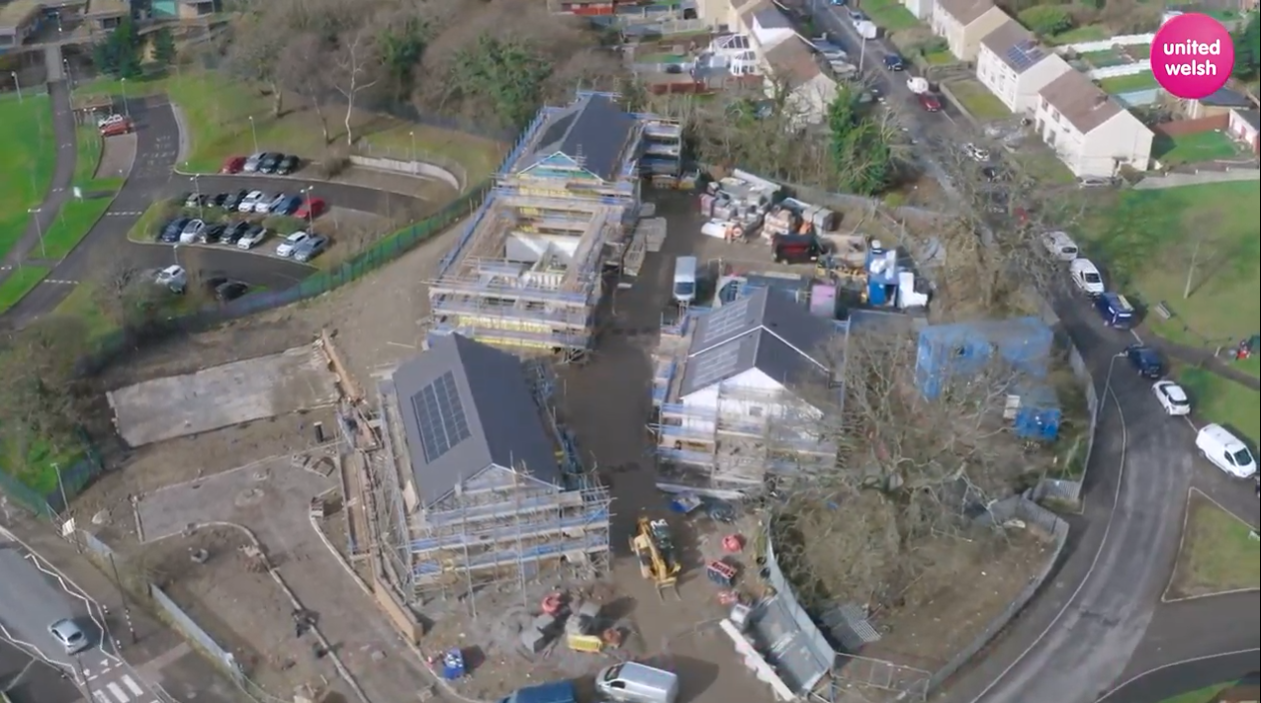 Cwm Ifor aerial view